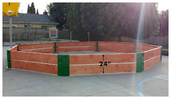 Octagon Shaped Pits GaGa Ball Pits Wood